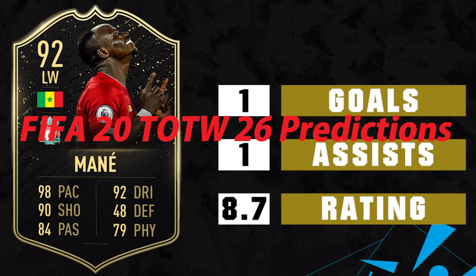 FIFA 20 TOTW 26 Predictions - Potential Team of the Week 26 Squad in Ultimate Team