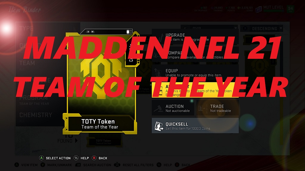 Madden NFL 21 TOTY Promo - Release Date, Solos, Sets & Player Predictions